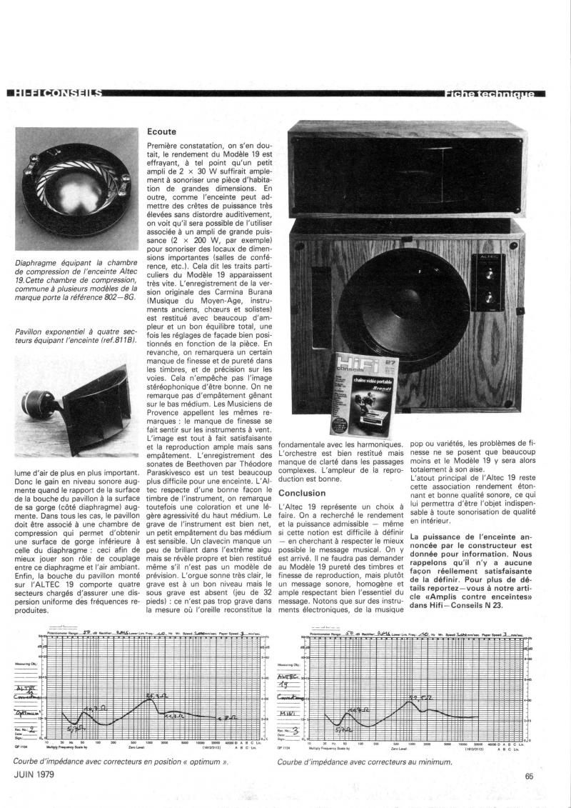Altec Model Nineteen (Hektor's version) - Loudspeakers